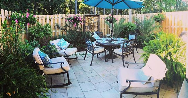 Don't short change your back patio area. Again, enjoy your coffee.. and the aroma of blooming garden