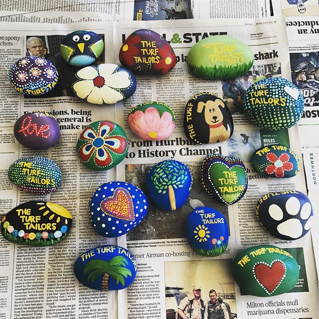 Y'all keep an eye out for the coolest rocks this side of the Mississippi! #fwbrocks #nwflrocks #thet