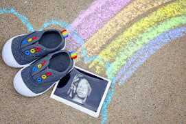 Rainbow Belly Maternity Portraits