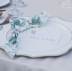 Hand-lettered Stationery for Baby Shower