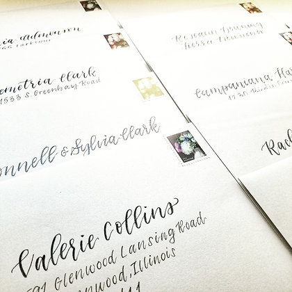 Brush Lettered Custom Handlettered Envelopes
