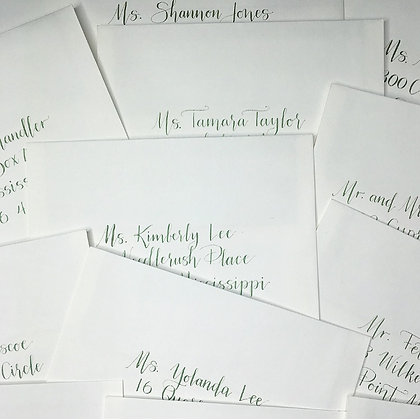 Handlettered Envelopes in Nona Script