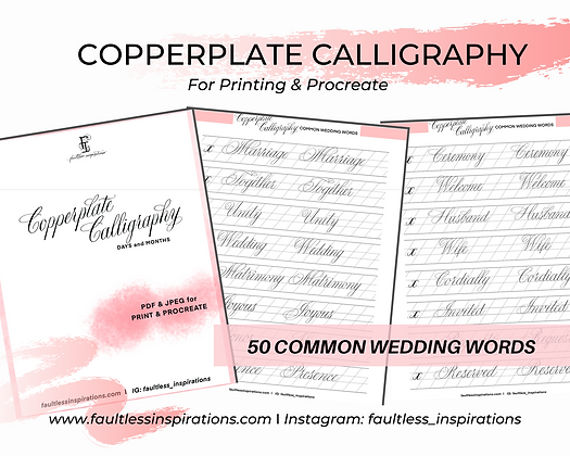 Wedding Calligraphy Practice Sheets | Calligraphy Practice Guide