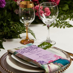 Calligraphy Leaf Placecard