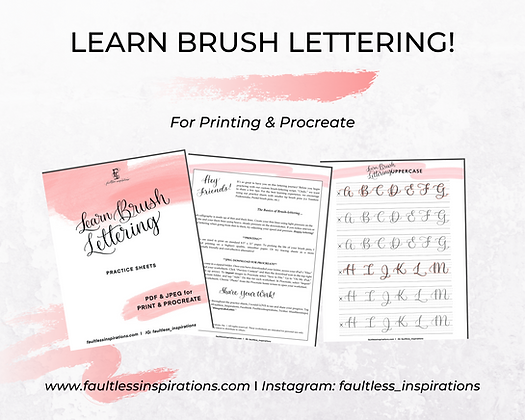 """Cindy"" Brush Calligraphy Practice Sheets 