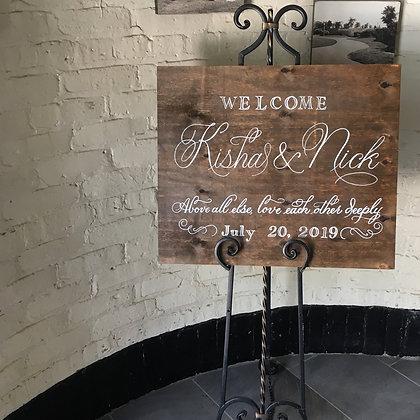 Handlettered Wood Signage