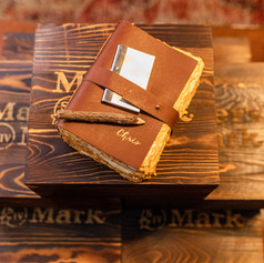 Custom Personalized Leather Journal with Gold Foil