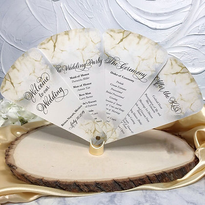 Elegant Wedding Programs - Petal Fans