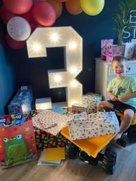 Light Up Number 3 Birthday Decor