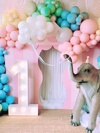 Light Up Number 1st Birthday Party Decor