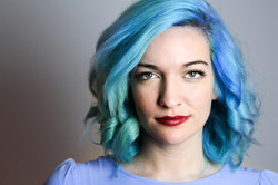 Arianna Blue Hair Headshot (1 of 1)-3