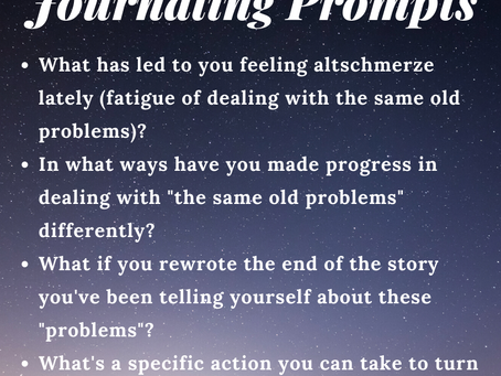 Tired of Feeling Altschmerze? Rewrite your story with these four reflection questions
