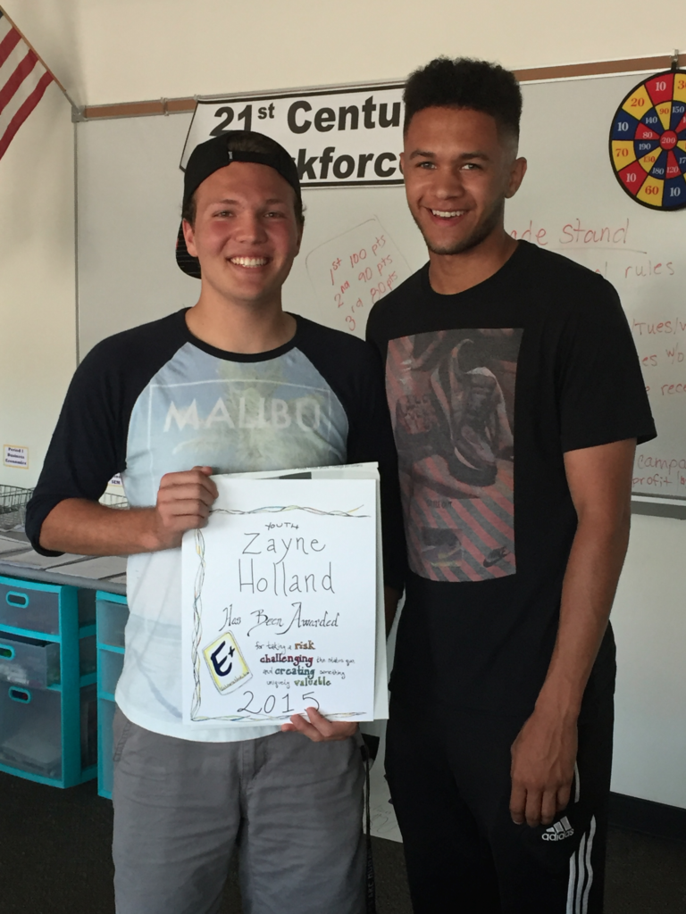Chase Hopkins presented Zanye the 2015 Youth E+ Award