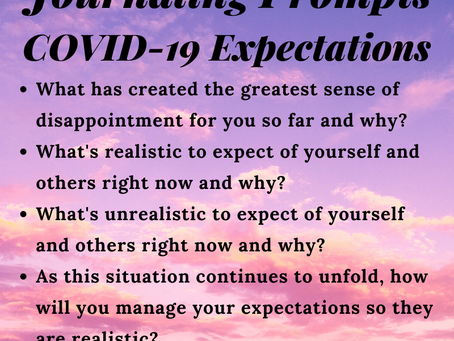 4 Reflection Questions for Managing Your Expectations During COVID-19
