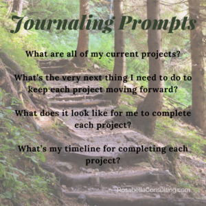 Journaling Prompts for Staying Focused to Finish on Projects