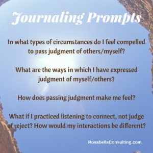 Journaling Prompts for Moving From Judgment to Compassion