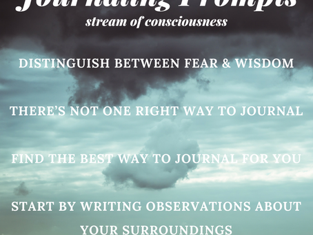 It's Ok to Write About the Weather…And Other Tricks for Stream of Consciousness Journali