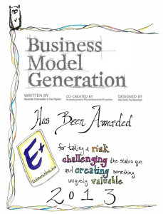 E+ Award_Business Model Generation