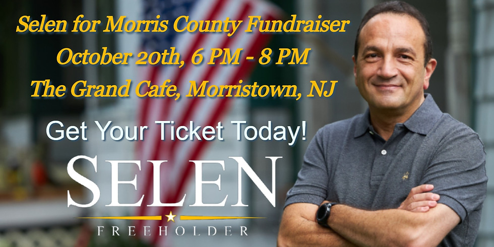 Fundraiser for Morris County Freeholder Tayfun Selen