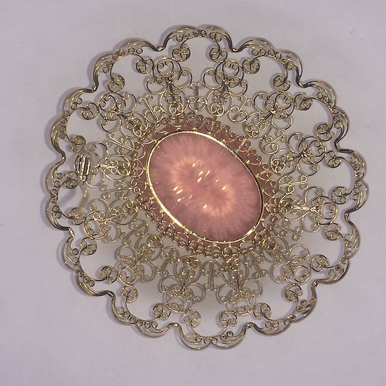 Rose Quartz Brooch