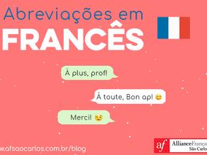 Dicas AF - 44 palavras que podem ser abreviadas em francês!