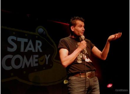 El cómico Juan Sinde en el Complejo Ametzagaña.