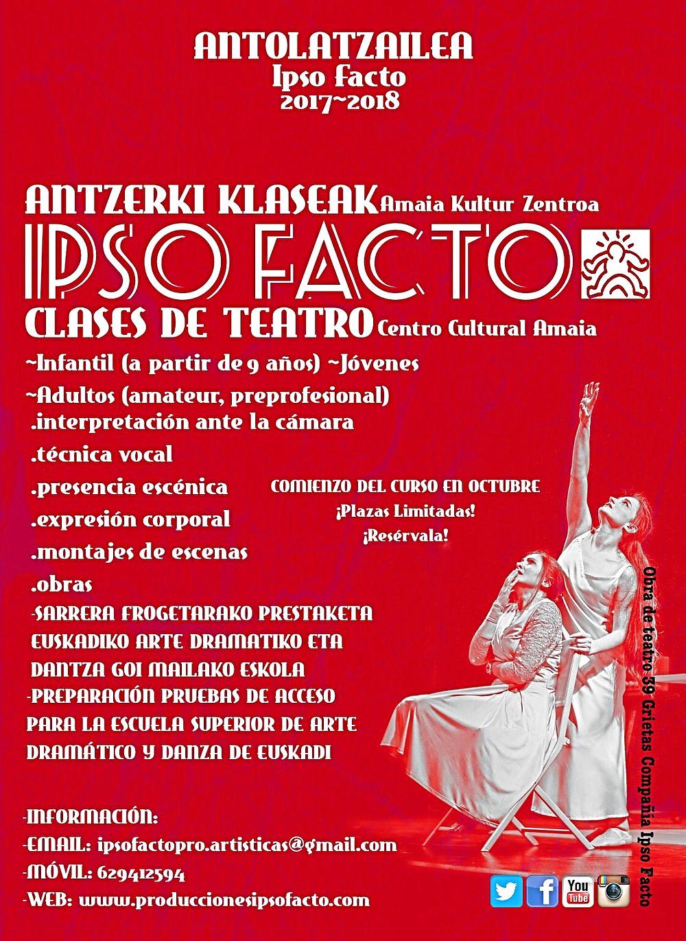 Cursos de teatro Ipso Facto