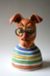 dogs, dog, ceramic sculpture, ceramic bust, ceramic