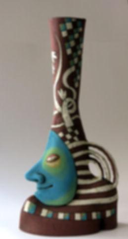 vase man art ceramic
