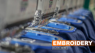Our expert team of embroiderers are the best in the industry. In addition to regular embroidery on apparel, caps, and bags—we also offer laser etching, patches, puff embroidery and more! Email a representative to learn about all of our embroidery capabilities.
