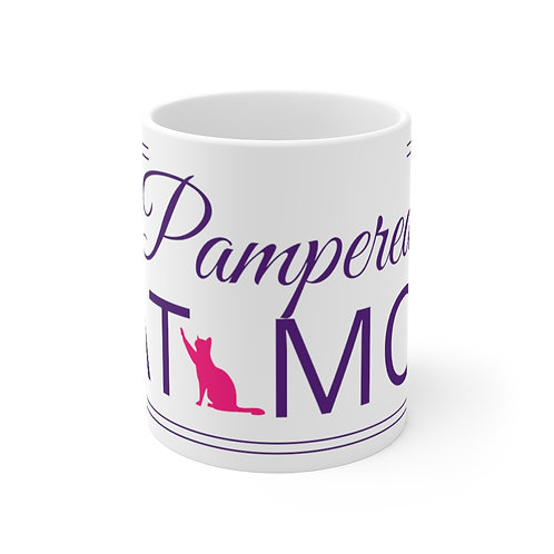 Pampered Cat Mom Mug