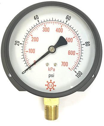 DK BT 黑鐵殼壓力表 KPA Pressure Gauge 700kpa