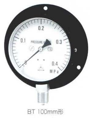 NISSHIN Type BT 黑鐵殼壓力表 pressure gauge