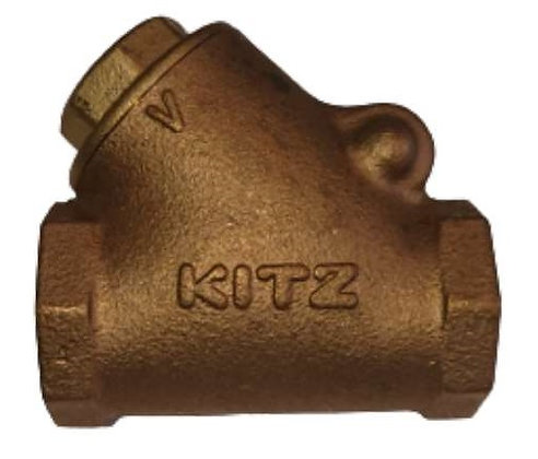 KITZ Fig.R(BS) 銅上牙橫身止回閥 橫側 Bronze Swing Check Valve