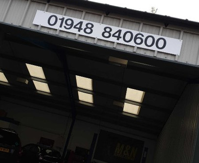 All the excitement of the new premises....forgot to put the main number up !! Done now at least 😃😃