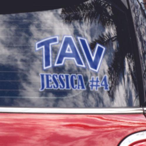 TAV Volleyball Car Window Sticker