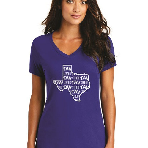 TAV STRONG - District ® Women's Perfect Weight ® V-Neck Tee