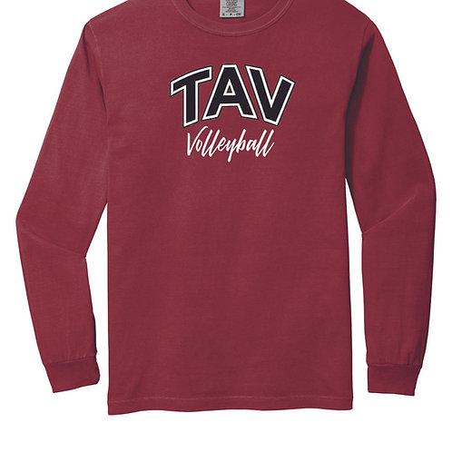 TAV Volleyball Script - LONG SLEEVE Comfort Colors ® Heavyweight Ring Spu
