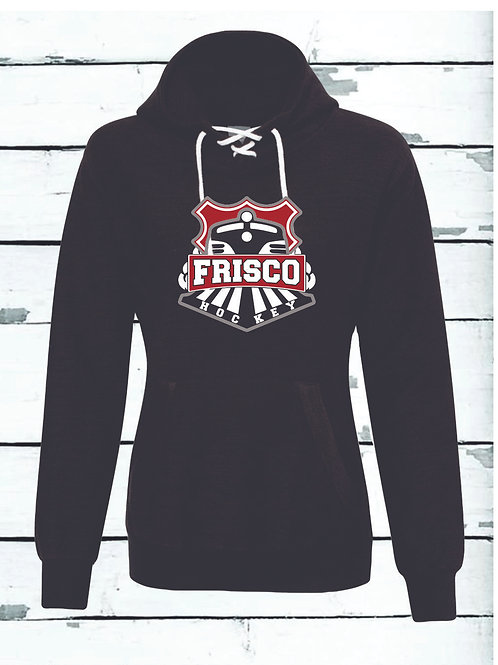 LADIES FRISCO HOODIE - J. America French Terry Sport Lace Scuba Hoo