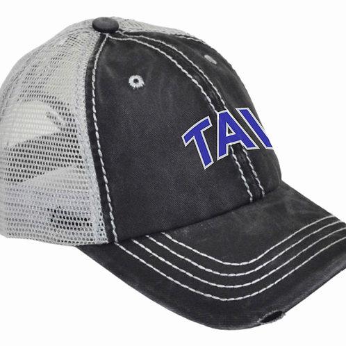 LADIES PONYTAIL HAT - EMBROIDERED TAV Logo