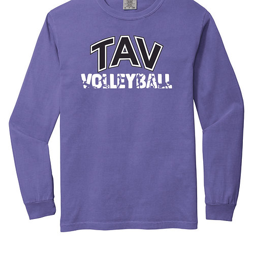 TAV VOLLEYBALL ACTION - LONG SLEEVE Comfort Colors ® Heavyweight Ring Sp