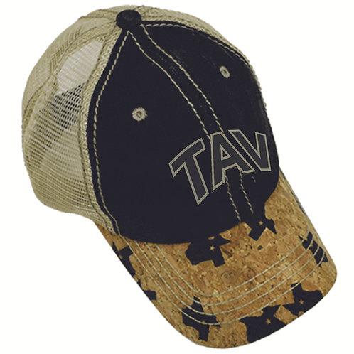 TEXAS CORK BILL TRUCKER HAT WITH TAV LOGO