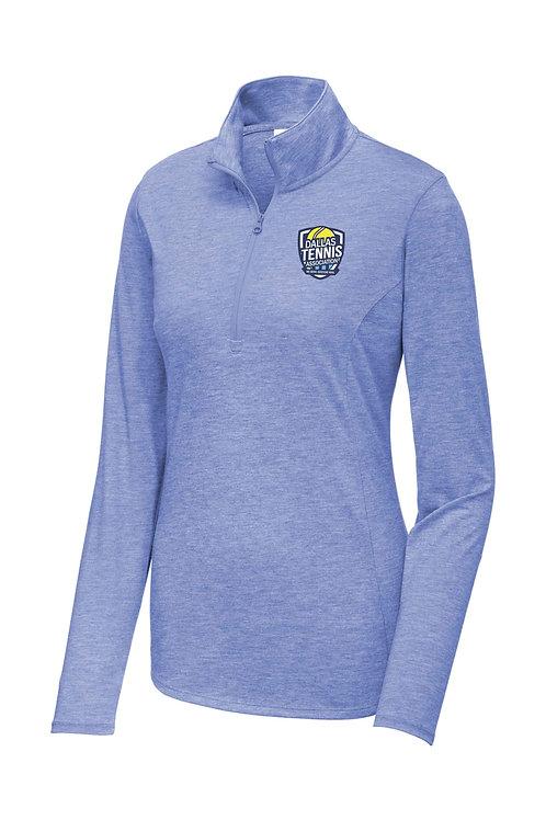 Ladie's Sport-Tek ® PosiCharge ® Tri-Blend Wicking 1/4-Zip Pullover