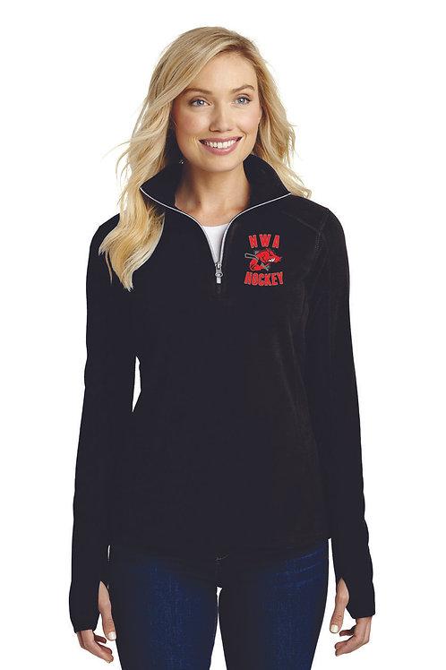 EMBROIDERED - Port Authority® Ladies Microfleece 1/2-Zip Pullover