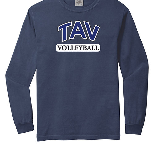 TAV Volleyball Block - LONG SLEEVE Comfort Colors ® Heavyweight Ring Spun Tee