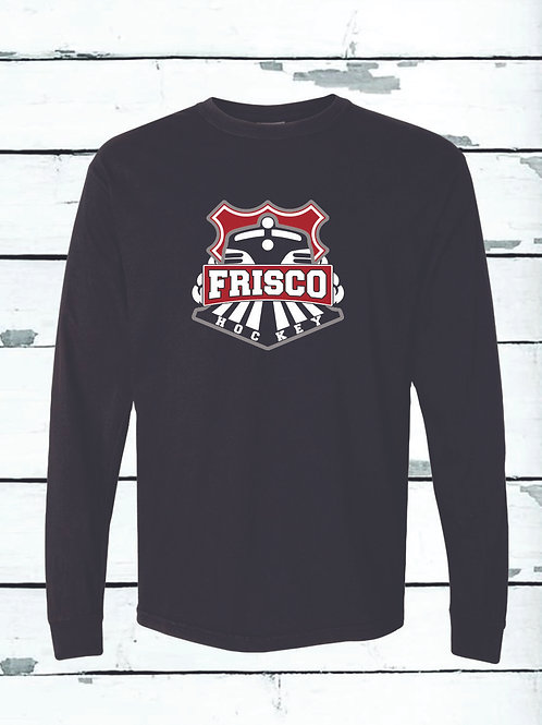 THREE COLOR FRISCO LOGO - Long Sleeve Comfort Colors ® Heavyweight Ring Spun Tee