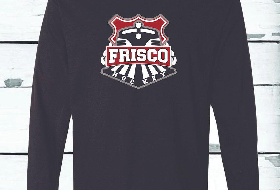 THREE COLOR FRISCO LOGO - Long Sleeve Comfort Colors ® Heavyweight Ring Spun Tee