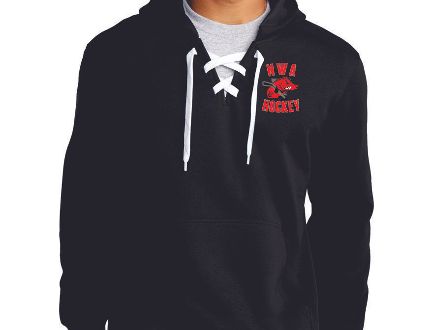EMBROIDERED - Sport-Tek® Lace Up Pullover Hooded Sweatshirt