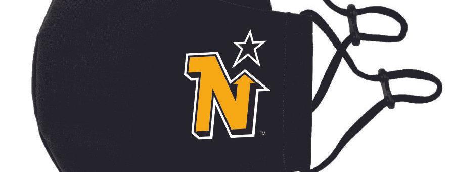 MCKINNEY NORTH STARS Logo - Woven Face Mask