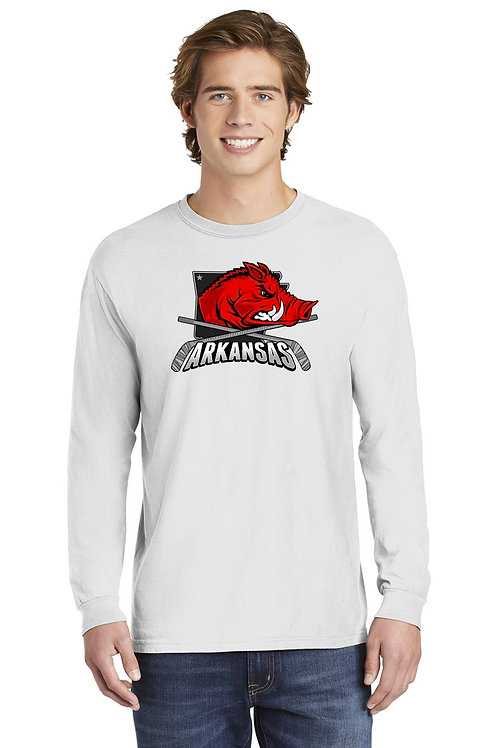 RAZORBACK - Long Sleeve Comfort Colors ® Heavyweight Ring Spun Tee